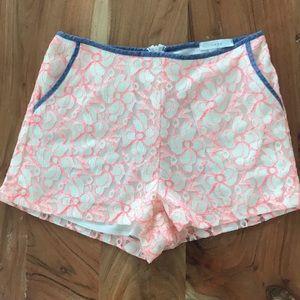 NWOT LUSH floral lace shorts